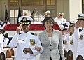 US Navy 100311-N-3560G-001 Hawaii Gov. Linda Lingle is piped through the side boys after attending a retirement ceremony for Lt. Cmdr. Majelle Stevenson of the Civil Engineering Corps.jpg