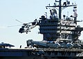 US Navy 101210-N-2218S-041 An SH-60F Sea Hawk helicopter takes off from the flight deck of the aircraft carrier USS George Washington (CVN 73) duri.jpg
