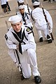 US Navy 110406-N-YM440-077 Members of the Fort Worth Sea Cadet drill team perform as part of a proclamation ceremony at Dallas City Hall plaza duri.jpg