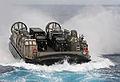 US Navy 111011-N-MW330-051 Landing Craft Air Cushion (LCAC) 9 heads towards the forward deployed amphibious dock landing ship USS Germantown (LSD 4.jpg