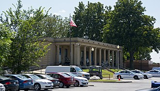East Potomac Park - Northern fieldhouse, finished in 1921, now used as the U.S. Park Police District 1 station.