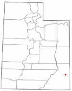 Location of Monticello, Utah