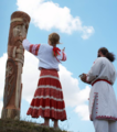 Ukrainian Rodnovers worshipping Perun in Ternopil Oblast, Ukraine (cropped).png