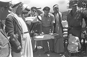 Umm al-Fahm - Signing oath of allegiance to the Israeli government, 1949