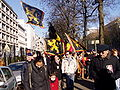 United Belgium Brussels demonstration 20071118 DMisson 00010 boulevard du Regent Flemish flags near American embassy.jpg