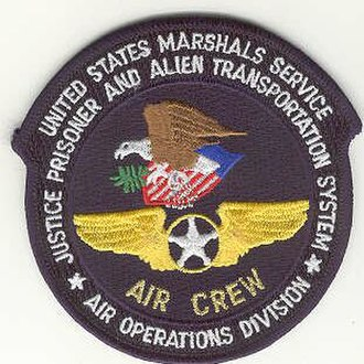 Justice Prisoner and Alien Transportation System - Patch of JPATS, Air Operations Division, Air Crew.