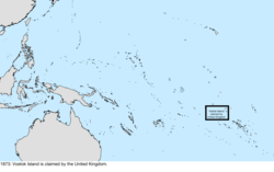 Map of the change to the United States in the Pacific Ocean sometime in 1873