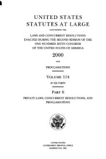 United States Statutes at Large Volume 114 Part 6.djvu