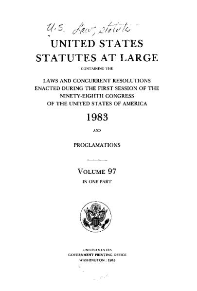 File:United States Statutes at Large Volume 97.djvu