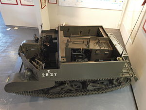 Universal Carrier - The engine was in the centre of the vehicle with the final drive at the rear