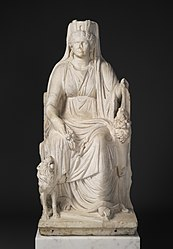 Statue of a Seated Cybele with the Portrait Head of her Priestess