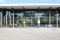 Unterföhring Bahnhof Eingang.JPG