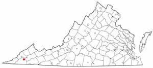 Dungannon, Virginia - Image: VA Map doton Dungannon