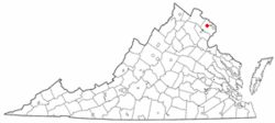 Location of Oakton, Virginia