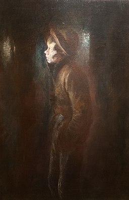 Vagabond - painting by László Mednyánszky