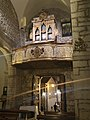 Vaglio Basilicata, Chiesa Madre di San Pietro Apostolo, l'ingresso principale e l'organo.jpg