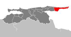 Ubicación de Municipio Valdez