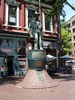 "Statue of ""Gassy"" Jack, Gastown."