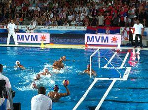 2014 Men's European Water Polo Championship - Serbia vs Montenegro semifinal game