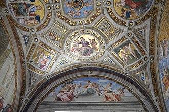 Cardinal and Theological Virtues (Raphael) - Image: Vatican Museums 6 (175)