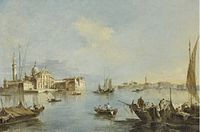 Venice, A View of the Church of San Giorgio Maggiore with the End of the Giudecca Francesco by Guardi.jpg