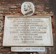 Venezia, lapide posta sulla casa