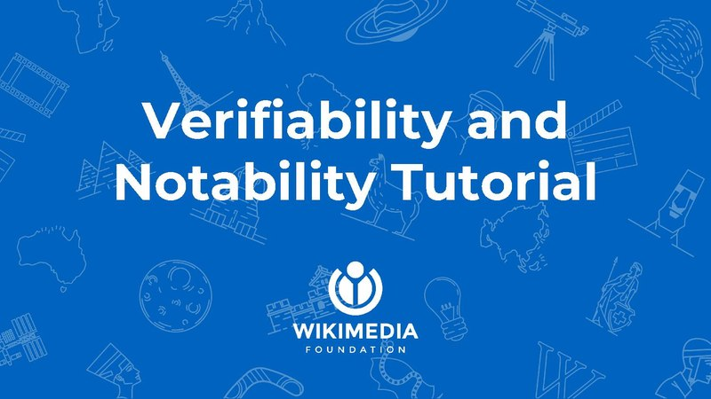 File:Verifiability and Notability - tutorial.pdf