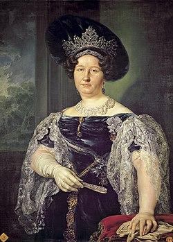 Vicente Lopéz Portaña (1772-1850) - Portret van de koningin van de twee Siciliën (1831) - Madrid Bellas Artes 19-03-2010 11-30-09.jpg