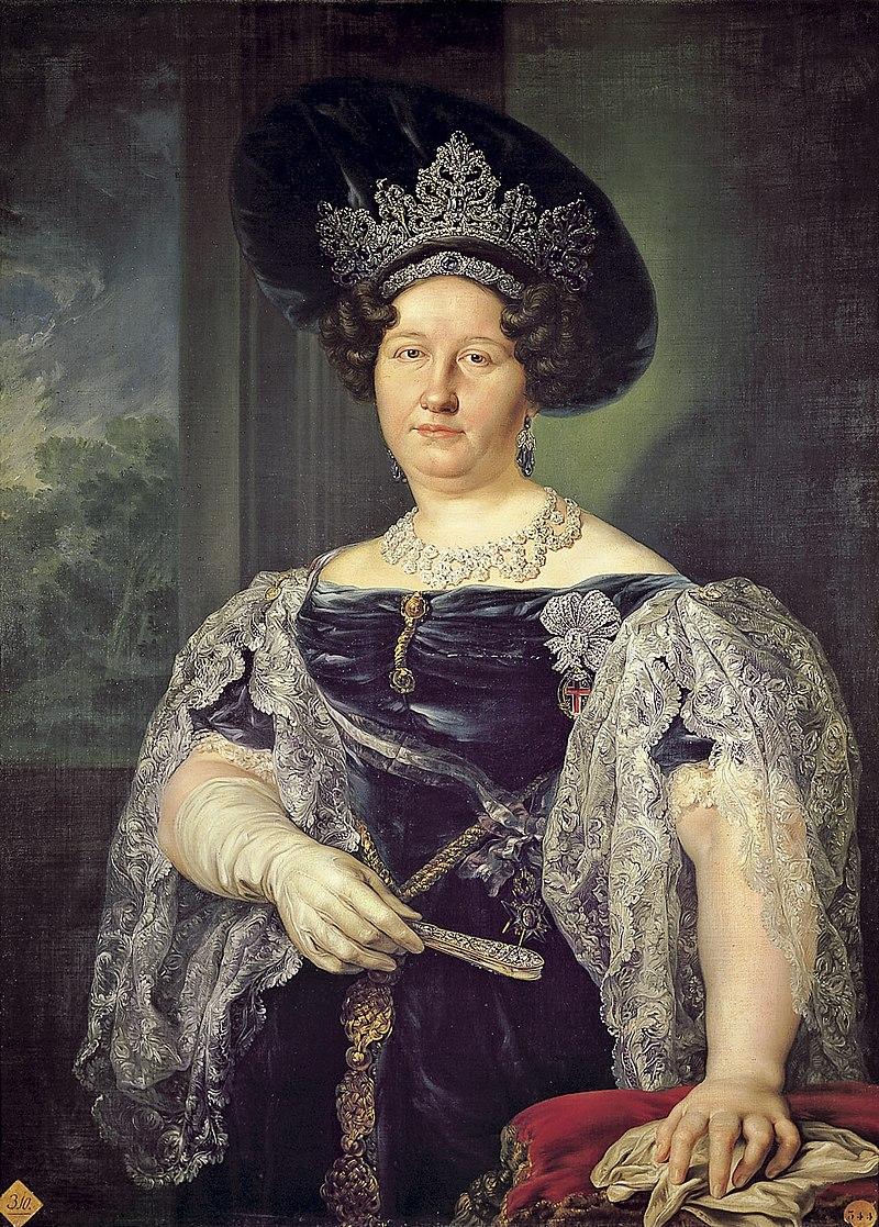 Vicente Lopйz Portaсa (1772-1850) - Portret van de koningin van de twee Siciliлn (1831) - Madrid Bellas Artes 19-03-2010 11-30-09.jpg