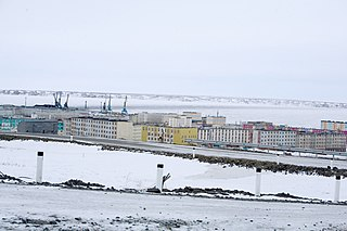 Town in Chukotka Autonomous Okrug, Russia
