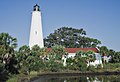 View of the lighthouse from the salt marsh St. Marks NWR 2018-09-22.jpg