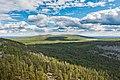 View over Kivitunturi towards Vasatunturi in Savukoski, Lapland, Finland, 2021 June.jpg