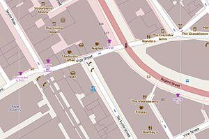 Vigo Street - Location of Vigo Street within London.