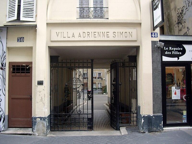 Fichier:Villa Adrienne-Simon, Paris 14.jpg
