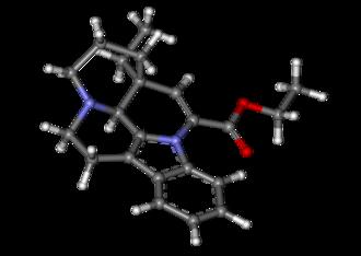 Vinpocetine - Image: Vinpocetine ball and stick