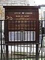 Vintry Ward Board outside St James, Garlickhithe - geograph.org.uk - 1719668.jpg