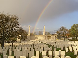 Vis-en-Artois British Cemetery, Haucourt cemetery located in Pas-de-Calais, in France