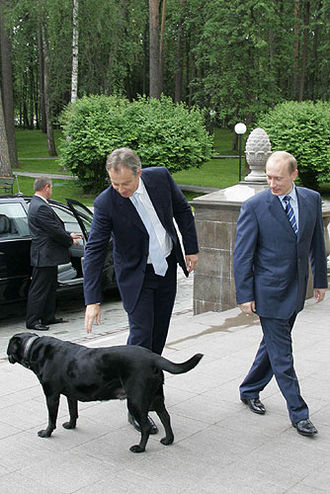 Foreign policy of Vladimir Putin - Putin, Koni and British Prime Minister Tony Blair in 2005