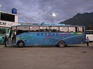 Volvo B7F - A Bredde B7F at Abancay central bus station.