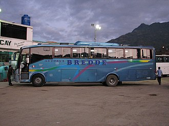 Volvo B7F - A Bredde B7F at Abancay central bus station.