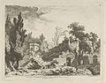 Vue des restes d'un théâtre from Differentes vues dessiné d'après nature... dans les environs de Rome et de Naples MET DP842904.jpg