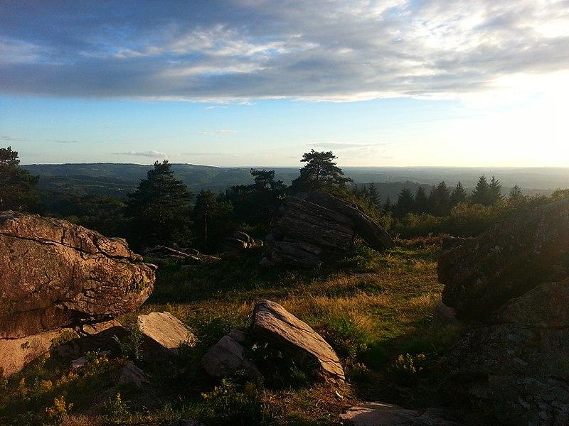 Vue ouest depuis le Puy de Pauliat