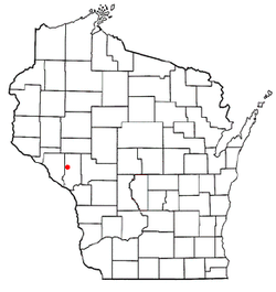 Location of Burnside, Wisconsin