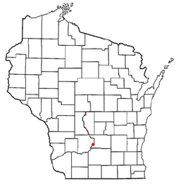 Location of Merrimac, Wisconsin