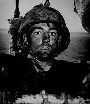 WW2 Marine after Eniwetok assault
