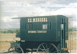 Laramie, Wyoming - Marshal's carriage at Wyoming Territorial Prison