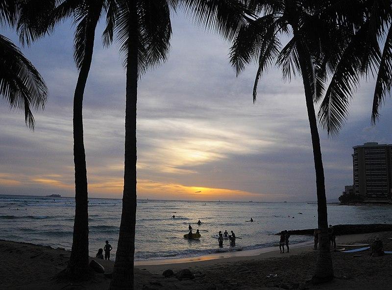 File:Waikiki-Oahu-sunset-Janine-Sprout.jpg