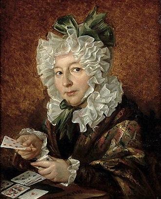 Walenty Wańkowicz - Image: Walenty Wankowicz Kobieta układajaca pasjansa 1829