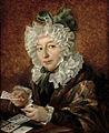 Walenty Wankowicz Kobieta układajaca pasjansa 1829.jpg