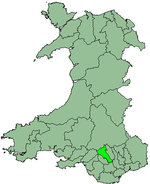 Cynon Valley shown within Wales